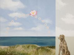 Day at the Beach, 48X36 inches, Acrylic on 2 panels, Diptych. From www.kazaan.com