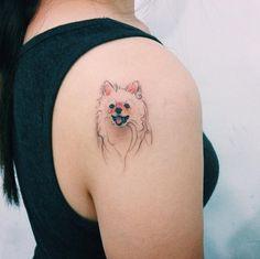 Pomeranian+tattoo+design+by+Doy