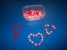 Valentine's Day Beaded Heart Pre-school Craft- pipe cleaners and beads!