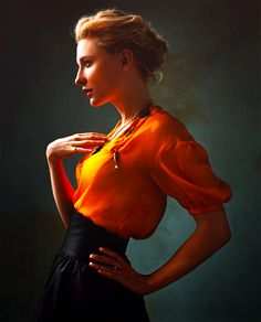 Cate Blanchet. I love the bright colors. I love her natural feel.