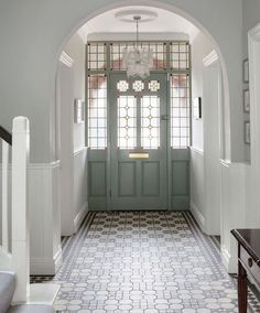 hallway flooring Home Renovation Design Awesome 20 Fabulous Hallway Decor Ideas For Home. - Hallways are often overlooked when decorating a home. Homeowners are so focused on designing beautiful rooms, that the hallways wind [] Tiled Hallway, Modern Hallway, Hallway Flooring, Grey Hallway, Tile Flooring, Flur Design, Home Design, Interior Design, Interior Ideas