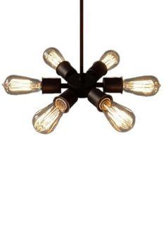 Circle 6 Bulb Vintage Edison Industrial van HangoutLighting op Etsy