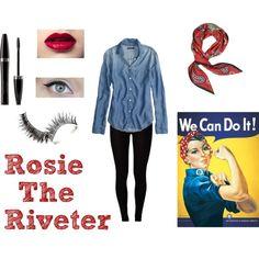 Halloween Costume #1 - Rosie the Riveter