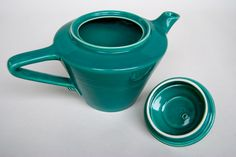 homer laughlin riviera dishes | Vintage Harlequin Pottery For Sale: Spruce Teapot 40s 50s Pottery