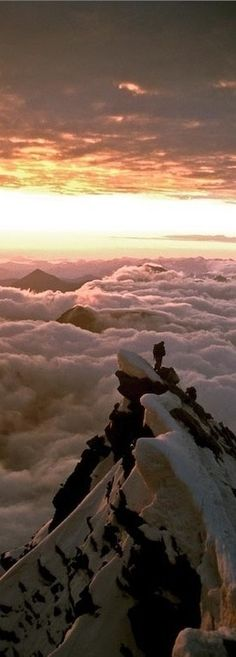 Above the clouds on Grossglockner - Austrian Alps