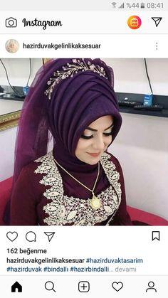 Hijabi Wedding, Muslim Wedding Dresses, Muslim Fashion, Hijab Fashion, Drape Skirt Pattern, Bridal Hijab Styles, Twiggy, Arabian Beauty Women, Simple Hijab