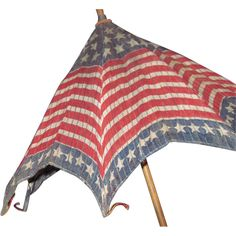 Stars Stripes Parade Parasol Flag Patriotic Umbrella Free PI from madamejezabellesdollsandantiques on Ruby Lane Primitive Antiques, Vintage Antiques, Patriotic Images, Patriotic Dresses, I Love America, Let Freedom Ring, Old Glory, Crochet Chart, Red White Blue