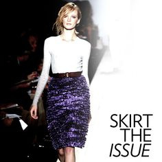 Your High Summer Uniform: Basic Tees + Jazzy Skirts