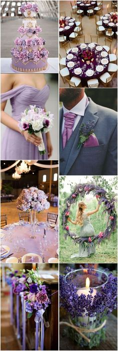 Color of 2018 - 24 Violet Wedding Ideas You Cant Miss! Color of 2018 - 24 Violet Wedding Ideas You Cant Miss! Purple Wedding Centerpieces, Purple Wedding Cakes, Lilac Wedding, Wedding Flower Decorations, Wedding Themes, Summer Wedding, Wedding Flowers, Dream Wedding, Wedding Ideas