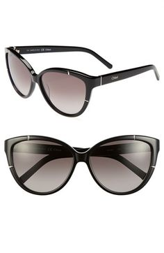 Chloé 'Caspia' 59mm Sunglasses available at #Nordstrom