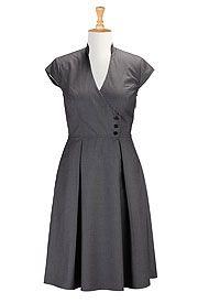 I <3 this Surplice suiting dress from eShakti