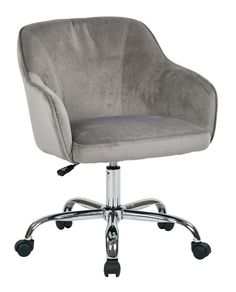 Room Essentials™ Uholstered Office Chair - Grey Linen | bedroom ...