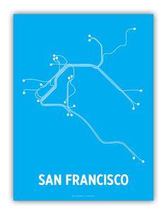 A poster celebrating San Francisco's anemic public transportation system. $20