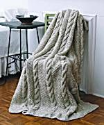 Natural Cable Throw Free Pattern Skill Level: Easy Pattern #: 20268