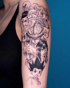 hunter x hunter tattoo Jäger Tattoo, Comic Tattoo, Piercing Tattoo, Body Art Tattoos, Sleeve Tattoos, Cool Tattoos, Piercings, Tatoos, Naruto Tattoo