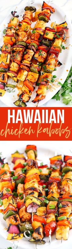 These Hawaiian Chicken Kabobs make the perfect summer meal that is easy, delicious and full of so much flavor! @Safeway #ad