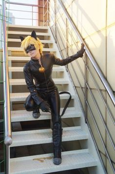 Cosplay Chat noir from MiraculousLadyBug Cosplay Anime, Epic Cosplay, Cosplay Diy, Amazing Cosplay, Cosplay Outfits, Halloween Cosplay, Cosplay Costumes, Miraculous Ladybug, Cumpleaños Lady Bug