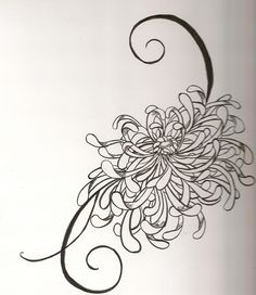 Japanese Chrysanthemum Tattoo For Arm Japanese Flower Tattoo, Japanese Flowers, Flower Tattoo Meanings, Flower Tattoos, November Flower, Japanese Chrysanthemum, Tattoo Outline, Birth Flowers, Tattoos For Daughters