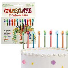 Stupid.com: Colorflame Candles