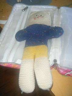 Lost on 07 Jul. 2016 @ Stockland Shellharbour 2529. Small knitted teddy bear blue, white and yellow. Kept in a grey makeup bag which was inside a grey plastic bag. Beloved friend sadly missed. Visit: https://whiteboomerang.com/lostteddy/msg/s307tc (Posted by Sharyn on 08 Jul. 2016)