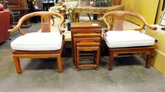 Asian Rosewood Horseshoe Chairs