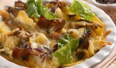 Zapečte ju: Hliva so zemiakmi a slaninou Oysters, Stuffed Mushrooms, Food And Drink, Vegetarian, Chicken, Cooking, Health, Recipes, Diet