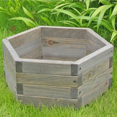 Small 16 x 16 x 7-inch Hexagon Fir Wood Garden Planter Box, EXGBP3616 :  This Small 16 x 16 x 7-inch Hexagon Fir Wood Garden Planter Box would be a great addition to your home. It has a hexagon shaped garden barrel and is functional and practical. Made of Chinese fir which has the natural resistance to moisture, decay, and insect damage and is highly durable and scented; Functional and practical to use it indoors and out on patios, decks and lawns; Indoor Use: Yes Assembly Type: Assembly…