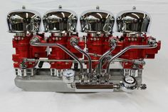 Blower Supercharger 4x2 Red & Chrome