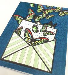 butterfly mail card by Kathy