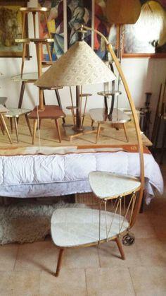 Frugal Lampe Table Bedside In Plexiglas & Wood 1950 1960 Vintage 50s 60s Rockabilly Antique Furniture Antiques