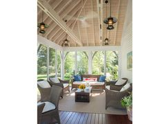 I'd love to have a porch like this!! Peter's Cove Harpswell — BANKS DESIGN ASSOCIATES, LTD
