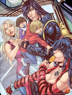Acheron with his sons and daughters