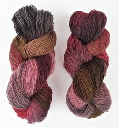 Essence of Autumn Hand Dyed Yarn: Woodland sport col. Blackcherry
