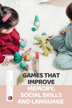 games that improve memory, social skills and language Teaching Kids, Kids Learning, Empowering Parents, Memory Games For Kids, Best Foundation, Communication Skills, Social Skills, Parenting Hacks, Fun Activities