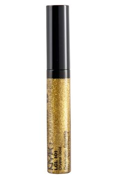 Free shipping and returns on NYX 'Gold' Liquid Crystal Liner at Nordstrom.com. Liquid Crystal Liner adds a pop of shimmer and color to any eye-makeup combination. It can be used alone or with eyeliners. The formula is infused with glamorous micro-glitter for sparkling appeal, and its fine brush tip allows for precision application and can be used to create lines of varying thickness.<br><br>How to use: Apply on lash line to add a bold finishing touch to any look.