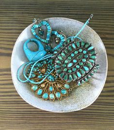 Turquoise in bowl … beautiful work of art!!!
