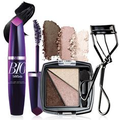 www.youravon.com/tinishamcgee  Get a daring look with these 3 makeup products!A $21.99 value, this collection includes:• Big & Daring Volume Mascara - Go bold with 5X the explosive volume. .338 fl. oz. $9.00 value.• Eye Dimensions Eyeshadow - Create this bold look with neutral, feature-enhancing colors. 088 total oz. net wt. $3.99 value.• Avon Eyelash Curler - Stainless steel with silicone grips and pads. $3.99 value.