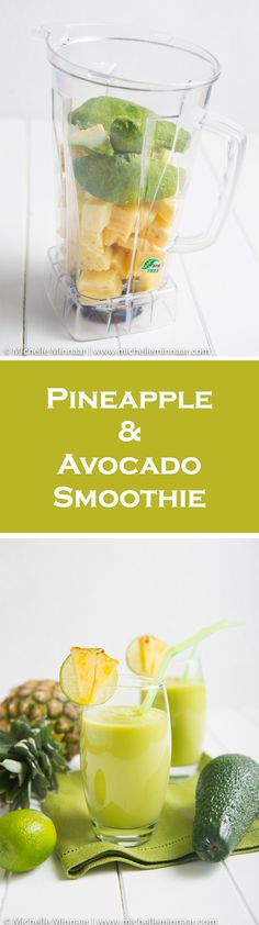 The perfect #breakfast #smoothie for carnivores and vegans alike. #recipe #vegan #breakfast #avocado #pineapple