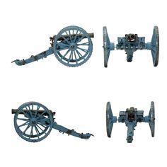 "Cañón Light Six-Pounder Gun (Colección ""Soldados de las Guerras Napoleónicas"" editada por delPrado - 60 mm)"