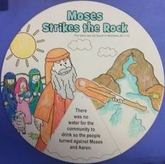 Petersham Bible Book & Tract Depot: Colour Your Own Moses Strikes the Rock Wheel