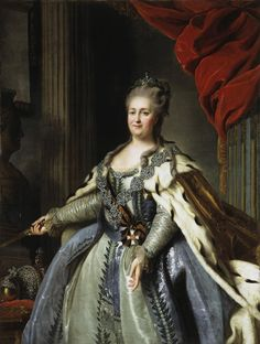 Fedor Rokotov Portrait of Catherine II the Great of Russia, oil on canvas, the Hermitage, St. Catherine the Great was one of the most prominent rulers of Russia and a figure. History Major, Women In History, European History, Art History, Catherine La Grande, Catalina La Grande, History Jokes, Funny History, Queen Photos
