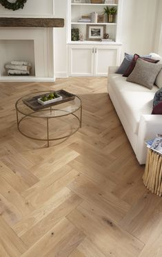 Impressions Flooring Lexington Flynn Plank or Pat Living Room Wood Floor, Living Room Flooring, Bedroom Flooring, Home Living Room, Bedroom Floor Tiles, Wood Floor Bathroom, Hallway Flooring, Herringbone Tile Floors, Oak Parquet Flooring