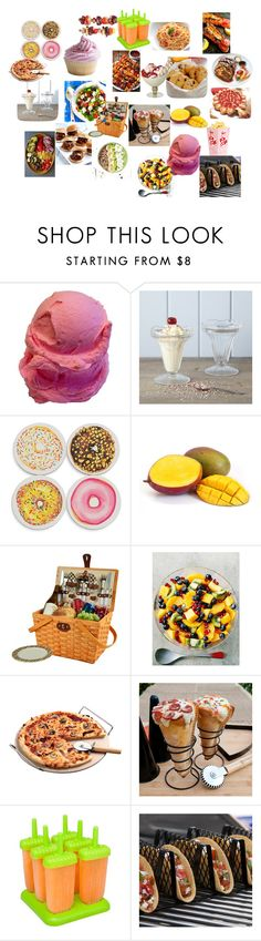 """""""food"""" by cupcakekisss on Polyvore featuring interior, interiors, interior design, home, home decor, interior decorating, Picnic at Ascot, French Toast and Improvements"""
