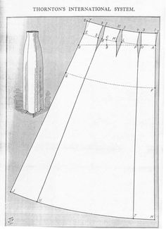 -Original- Pre 1929 Historical Pattern Collection possible pattern for dress skirt