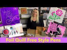 Foil Quill Freestyle Foil Pen By Wrmk And Lots Of Projects Can T Miss This Must See Magnetic Mat Youtube Quilling Pen Projects Foil