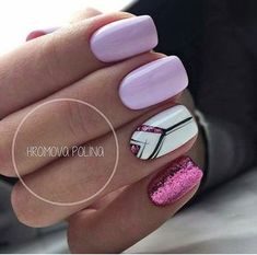 Colorful nails, Delicate nails, Foil nail art, Ideas of colorful nails, Nails trends 2018, Painted nail designs, Party nails, Spring nail art