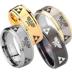 Wolfram Ring Triforce & Legende von Zelda von customjewelry14