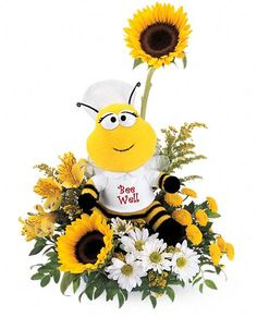 Teleflora's Bee Well Bouquet Flowers, Teleflora's Bee Well Flower Bouquet - Teleflora.com