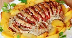 Bevagdosta a húst, majd bacont, sajtot és hagymát tett a résekbe, káprázatos mi lett belőle!