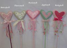 stuffed felt heart wands